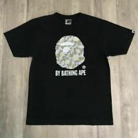 A BATHING APE BAPE Kaws Collabo Ape Head TEE Thunder Skull Size L Rare