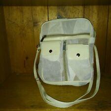 New Beige Suede Patchwork Design Handbag Purse Shoulder Strap