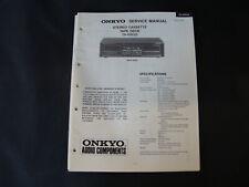 Original Service Manual Onkyo TA-RW20