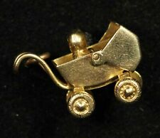 14K Baby Carriage Charm - Free Shipping USA