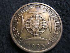 Rare 1935 Mozambique 5 Escudos XF  Bargain Price!