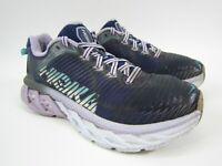 Hoka One One Womens Arahi Blue Purple Walking Running Shoes 1016259 MBLV Size 7