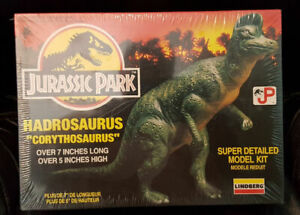 "Lindberg HADROSAURUS - 1993 MIP ""CORYTHOSAURUS"" Jurassic Park Model FREE Shippin"