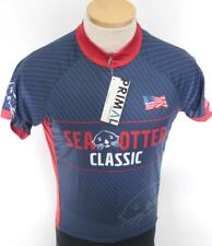New Primal Mens Sea Otter Classic Raglan Small Blue Red Cycling Jersey Road  Bike 564a122c5