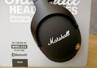Band New Boxset Marshall Monitor Bluetooth Over-ear Headphones - Black