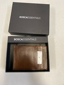 Bosca Old Leather Deluxe Front Pocket Executive Wallet Brown /