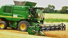 COMBINE HARVESTER FARMING CANVAS PICTURE POSTER PRINT UNFRAMED 6409
