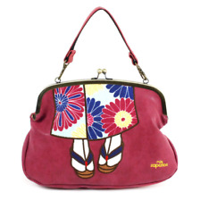 mis zapatos 3-way shoulder bag with kawaii Kimono design from Japan (Red wine)