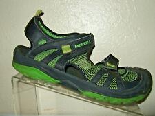 Merrell Hydro Rapid Black Leather & Green Sport Sandals Boy's Size 7 Medium