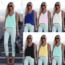 Fashion Women Summer Vest TopS Sleeveless Shirt Blouse Casual Tank Tops T-Shirt