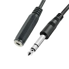 10Ft PREMIUM Stereo 1/4 Male to 1/4 Female Shielded Cable Microphone Mic Audio