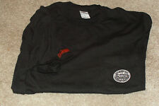 Scarce HOOTERS 20th Anniversary Sharp Dual Logo Black T-Shirt-Universal Location