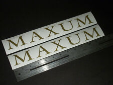 """Maxum Boats Vintage Gold Decal 12"""" Stickers (Pair)"""