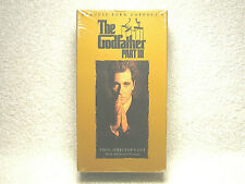 The Godfather Part Iii - 2 Vhs Set - Al Pacino - Final Director'S Cut New Sealed