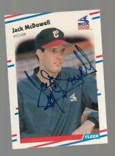 Jack McDowell Signed Autograph 1988 Fleer Baseball Card- 100% Guaranteed