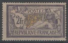"FRANCE STAMP TIMBRE N° 122 "" TYPE MERSON 2F VIOLET ET JAUNE "" NEUF x TB  K987"