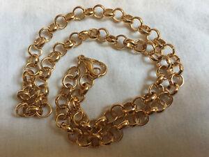 "UNISEX Mens Woman's BELCHER NECKLACE 18kt Gold Filled 20.5"" NEW"