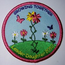 Girl Scouts Growing Together Leader Daughter 2010 Patch Badge Butterfly Flowers
