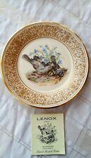 Vtg.1978 Lenox Boehm Ltd. Edition Bird Collector Plate~Mockingbirds w/Paper