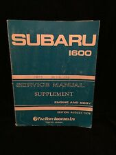 SUBARU 1600 SERVICE MANUAL 1979 - Supplement Engine and Body - FUJI
