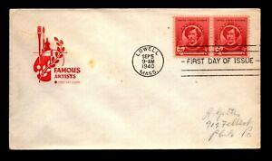 1940 James Whitsler Famous Americans FDC / Farnam Cachet - N236