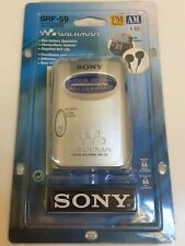 Sony Walkman SRF-59 AM/FM Analogue Personal Portable Radio - Silver, Sealed