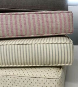 Home, Bench, Garden, Pew, Box or Scatter Cushions or Covers Made To Measure.