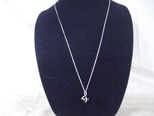 """Coiled Snake & Ball Pendant! Sterling .925 Silver Necklace,Long 32"""" With"""