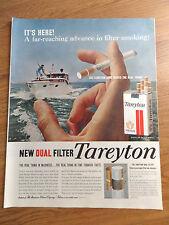 1958 Tareyton Cigarette Ad    Deep Sea Fishing