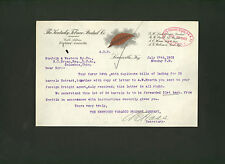 Kentucky Tobacco Product Co. * 1903 letter signed by A. E. Haas * Louisville, KY