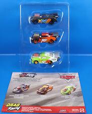 Disney Cars XRS Xtreme Racing Serie Jackson Storm-Nitoade-Brick Yadley -3er Set