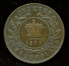 1873 Newfoundland Large One Cent Coin - EF Condition
