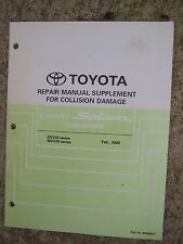 2000 Toyota Camry Solara Convertible SCV20 Collision Damage Repair Manual Supp R