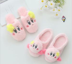 Women's Shoes Kirby:Star Allies Plush Cute Kirby Stuffed Cartoon Plush Slippers