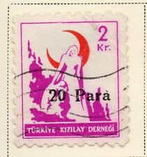 Turkey 1950-52 Early Issue Fine Used 20p. Surcharged 085754