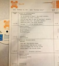 RADIO SHOW:12/16/87 SOLID GOLD BIRTHDAY SETS: BRENDA LEE,ROLLING STONES,SPOONFUL