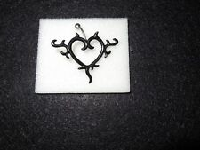 Top Load Belly Ring Nip Black Tattoo Inspired Heart