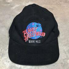 90s VTG PLANET HOLLYWOOD BEVERLY HILLS SnapBack Hat Logo Earth Dad Restaurant