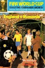 England v Rumania programme, World Cup Qualifier, April 1981, with INSERT
