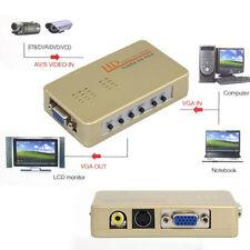 New RCA AV to VGA Video Converter For LCD HDTV DVD Monitor, S-video VGA AV Input