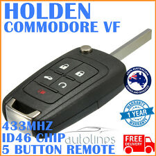 HOLDEN COMMODORE VF 5 Button 433MHz Chip Remote Complete Key Transmitter Case