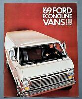 ORIGINAL 1969 FORD ECONOLINE VANS BROCHURE ~ E-100, 200, 300 ~ 8 PAGES ~ 69FDVAN