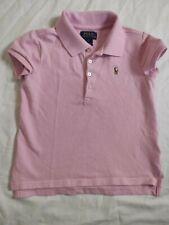 Girls Ralph Lauren Pink Polo Shirt Top Size 6