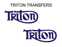 Triton Tank Transfers Decals Triumph Norton Motorcycle Sold as a Pair Blue T4