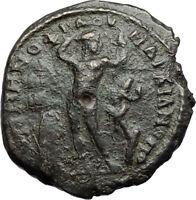 GORDIAN III & SERAPIS Marcianopolis Ancient Roman Coin APOLLO & SERPENT i71116