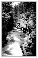 Prospect, OR Oregon Rogue River Gorge RPPC Real Photo Postcard 1925-42