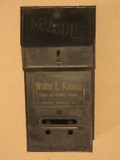 Old WALTER E KNOUSE Garage & Hardware Supplies SINKING SPRINGS Pa Mailbox Sign