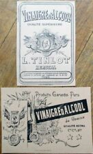 PAIR Printer's Proof 1930s Bottle Labels - Vinaigre d'Alcool