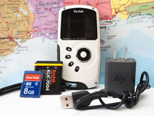 Kodak ZX3 PlaySport Waterproof EIS 1080p HD Camera Camcorder W/ 8GB WORKS TESTED