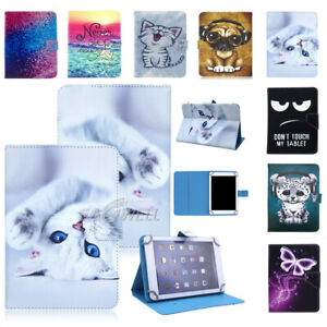 """Universal For LG 7"""" inch Tablet PC Case Folding Printed Leather Protective Cover"""